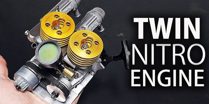 How do you build a two-cylinder engine for a radio controlled car? Simple: Just slap two single-cylinder engines together. #radiocontrol