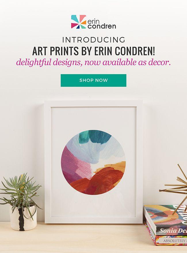 Introducing art prints by Erin Condren! Delightful designs, now available as decor! #erincondren #erincondrenpartner