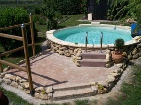Stahlwandpool verkleiden  26 best pool images on Pinterest | Small swimming pools, Small ...