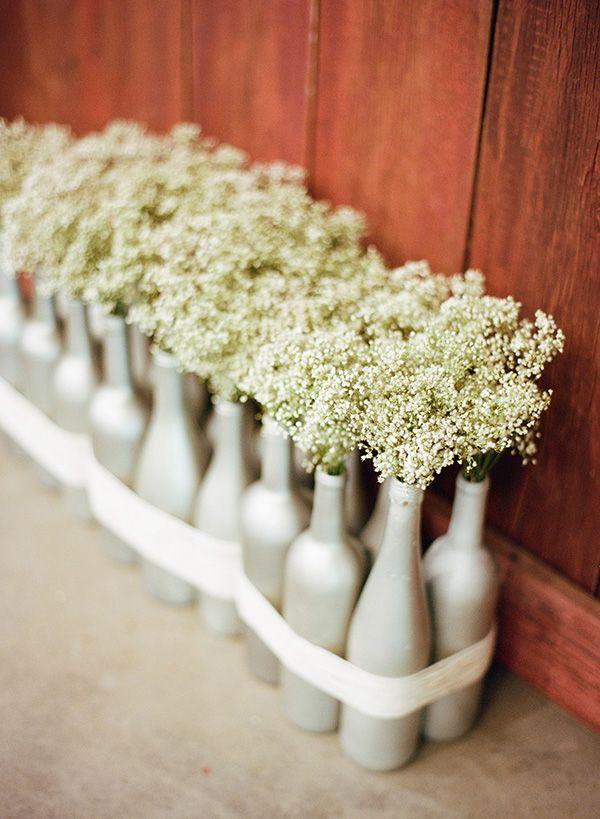 bottle wedding centerpieces // photo by Clayton Austin via ruffledblog.com