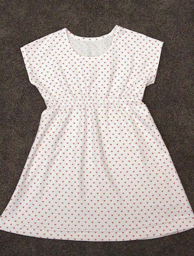 бесплатно швейная шаблон для игровой платье узором Этот простой девочек в 6 различных размеров! 4-14