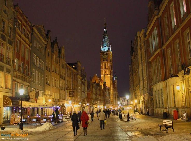 Długi #Targ nocą, #Gdańsk, #Poland