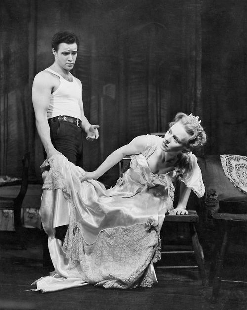 Jessica Tandy and Marlon Brando in the original Broadway production of Williams' A Streetcar Named Desire, 1948