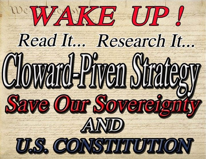 Image result for CLOWARD-PIVEN STRATEGY