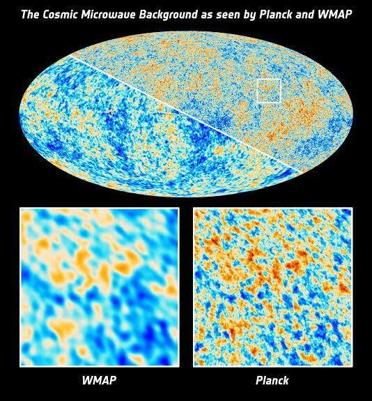 Comparision of Cosmic background datas by Wmap & planck mission