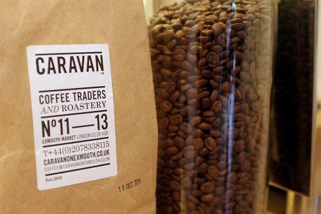 great packaging and typography.  CARAVAN.