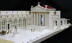 Incredible LEGO Roman Temple of Minerva with parading legionaries