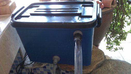 DIY Pond Filter Box | Internal Section of The DIY Pond Filter:
