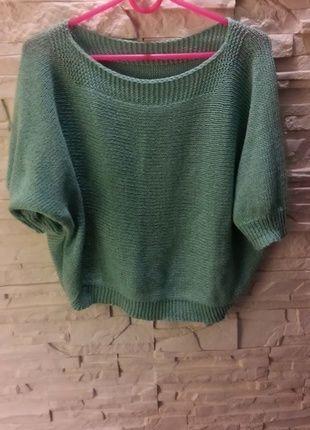 Kup mój przedmiot na #vintedpl http://www.vinted.pl/damska-odziez/swetry-z-dzianiny/8121153-swietny-mietowy-sweterek-oversize