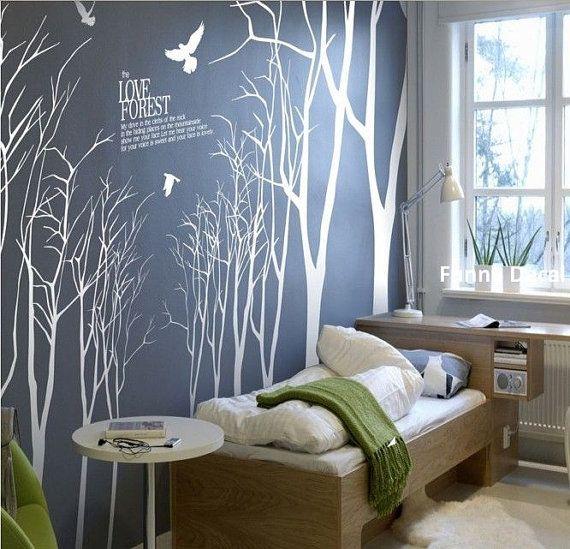 Arbre+et+oiseaux+14+arbresvinyle+Wall+Decal+arbre+par+FunnyDecal,+$118.00