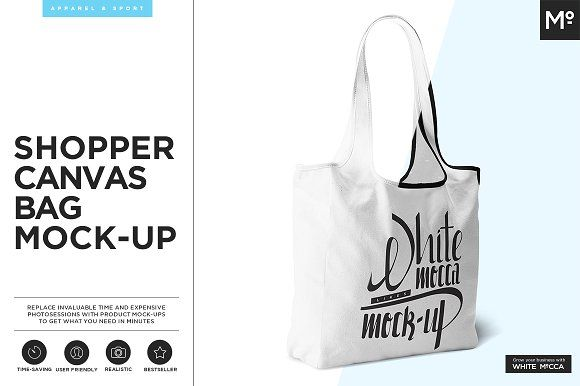 Shopper Canvas Bag Mock-up by Mocca2Go/mesmeriseme on @creativemarket