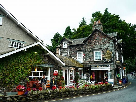 This is the Caffe Cumbria at Grasmere in the Lake District.  There are many cute caffe like this in this area.