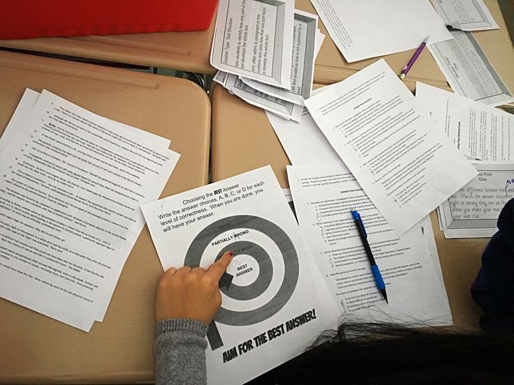 ELA Escape Room/Breakout Room: all the planning, steps, and tips for creating an engaging, on your feet activity for secondary students (without having to buy locks and boxes!). In this post, I explained my escape room teaching middle school students how to close read and think through multiple choice text based questions.