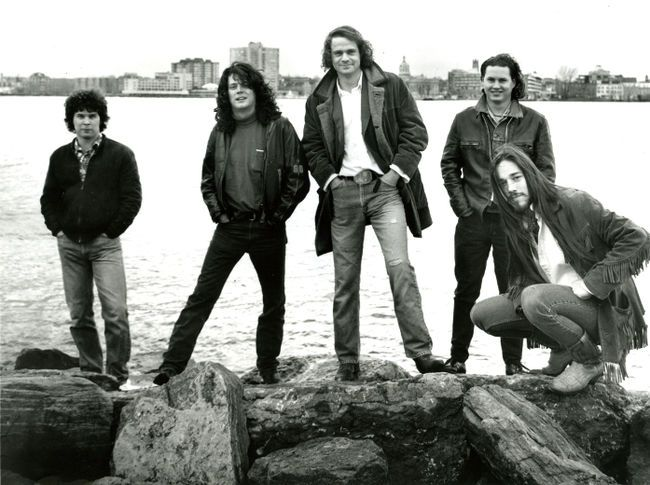(Left to RIght) Gord Sinclair, Paul Langlois, Gord Downey, Johnny Fay, Rob…