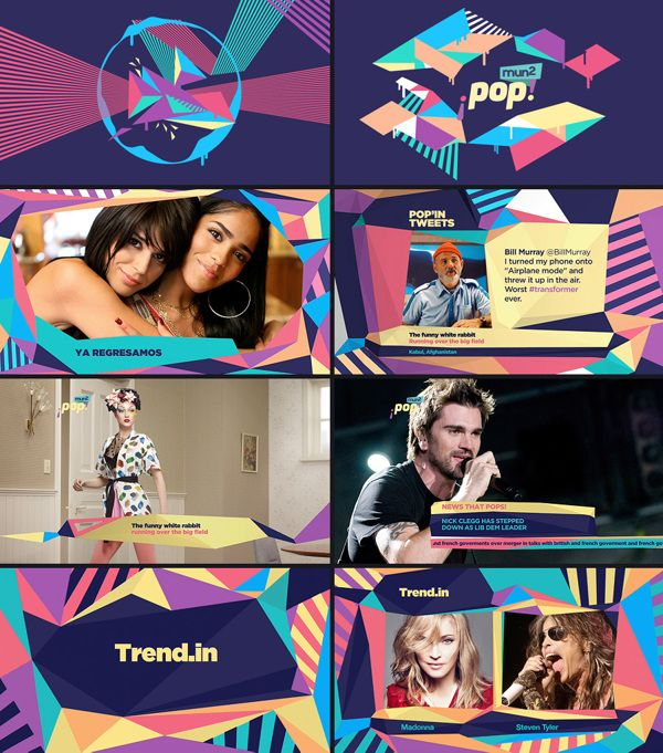 Great 2D dynamics for Mun2Pop's branding, just awesome #motion design!