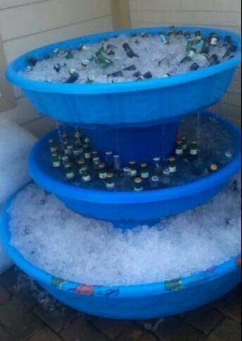 Repurposed: Beer fountain! Excellent idea.