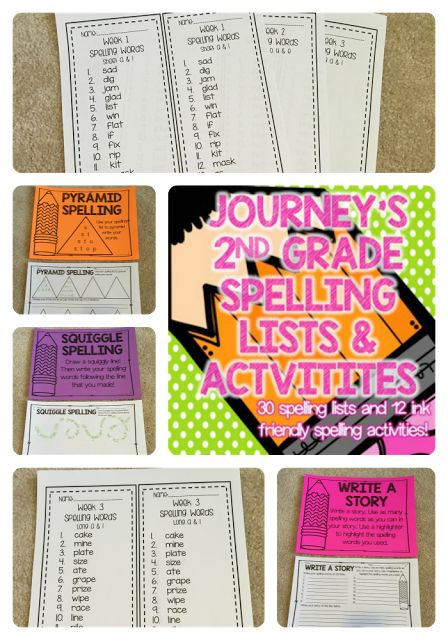 Saddle up for Second Grade: Journeys 2nd Grade Spelling Lists and Activities