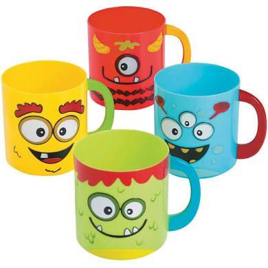 Mini Monster Plastic Mugs