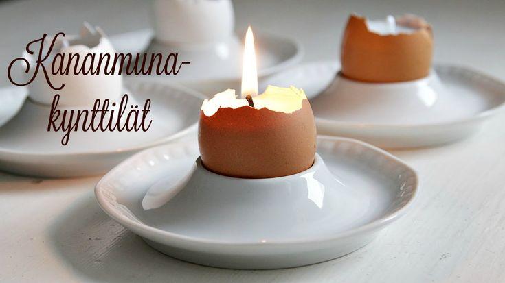 Kananmuna-kynttilät