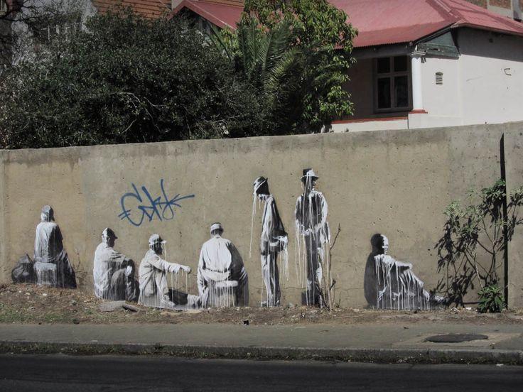 """The Long Wait, Part One"" Mural in Soweto, Newtown, Maboneng Precinct, Commissioner Street, Jan Smuts Avenue, Oxford Street, Louis Botha Avenue, Braamfontein, Yeoville and Rosebank."