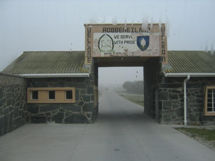 The entrance to Robben Island, Mandella's home for decades...