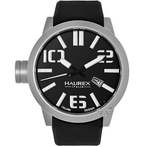 HAUREX ITALY TURBINA Black Rubber Strap, 168€ http://www.oroloi.gr/product_info.php?products_id=27950
