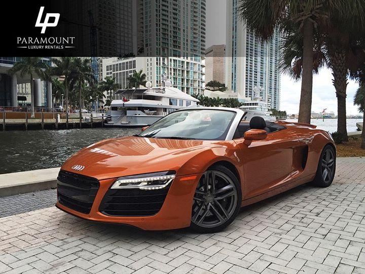 Rent our beautiful European roadster - #Audi R8 Spyder:  http://ift.tt/2jHzVb3  #LuxuryCars #MiamiCarRentals #ParamountLuxuryRentals