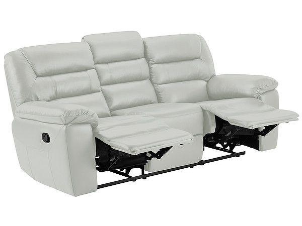 Grey Leather Sofas 3 Seater Manual Recliner Sofa Devon Range Oak Furnitureland Reclining Sofa Recliner Grey Leather Sofa