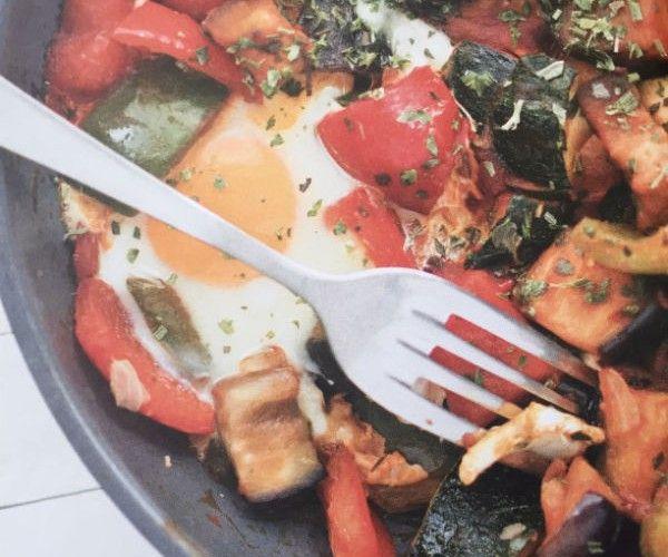 Italiaanse groenteschotel. Voor FODMAP ui en knoflook weglaten.