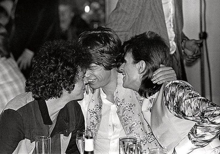 Lou Reed, Mick Jagger and David Bowie | Photos: Queen, David Bowie ...