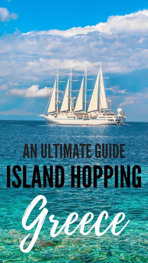 An ultimate guide to Island Hopping in Greece. Best summer adventure you can ever dream off. Mykonos, Paros, Naxos, Ios, Amorgos and Santorini. #greece #greecemta #travel #photography #travelphotography #greekislands #islandhopping