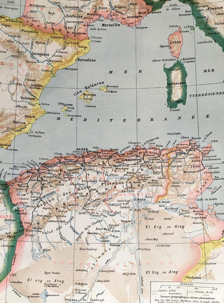 1904.ARGELIA Y TÚNEZ. Mapa de Argelia y Túnez - Lámina a color.  31 cm. x 24 cm. de tramuntanaoldprints en Etsy https://www.etsy.com/es/listing/533858471/1904argelia-y-tunez-mapa-de-argelia-y
