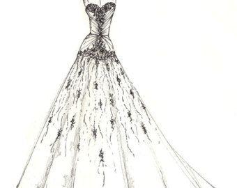 Jurk schets van uw speciale jurk een perfecte gift door dresssketch
