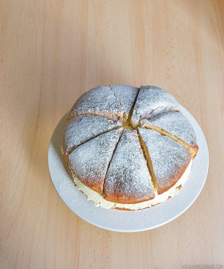 Semmeltarta - Swedish Cream Bun 'Cake' - Halal Home Cooking