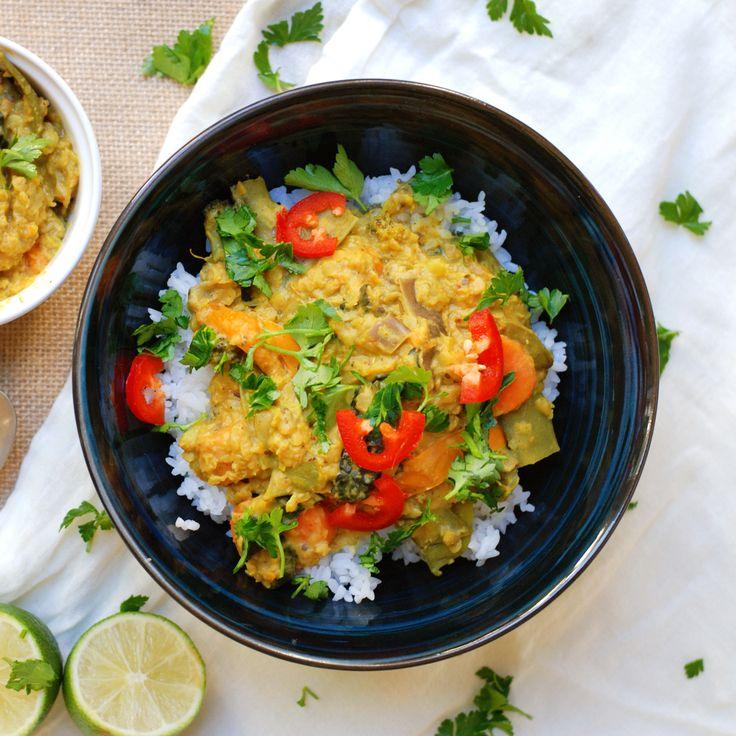 30-Minute Thai Coconut Curry Lentil Stew (Vegan) | Recipe ...