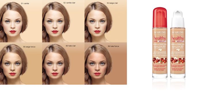 Color:  51 -  light vanilla, Brand:  Bourjois Healthy Mix Serum Foundation Fruit Therapy 30ml