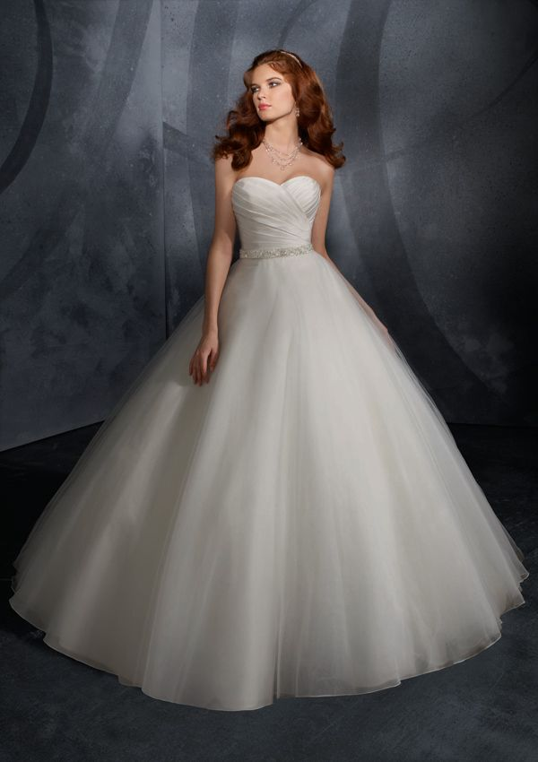 ball gown sweetheart pleated surplice bodice beaded sash taffeta tulle wedding dress wb0049 26495