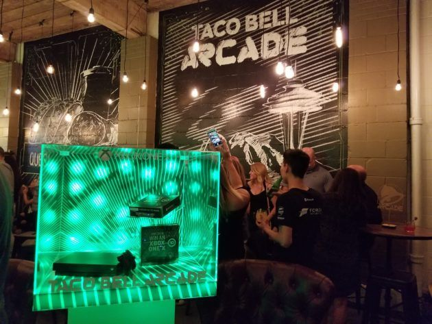 Inside Microsoft and Taco Bells party featuring the new Xbox console and the $5 Quesarito box