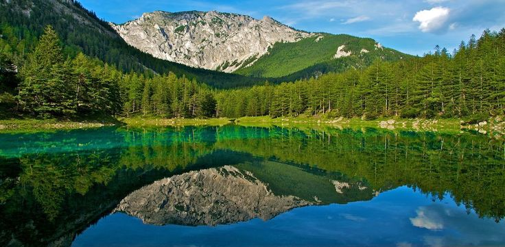 Grüner See, meaning Green Lake is a lake in Steiermark (Styria). This emerald paradise is a must-see if you are ever in Austria late-spring or early summer.