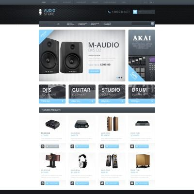 Responsive Audio Store Bootstrap OpenCart Template