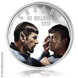 """Star Trek Silbermünze """"Mirror Mirror"""" aus Canada"""