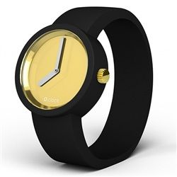 O clock watch - Gold face with Black strap