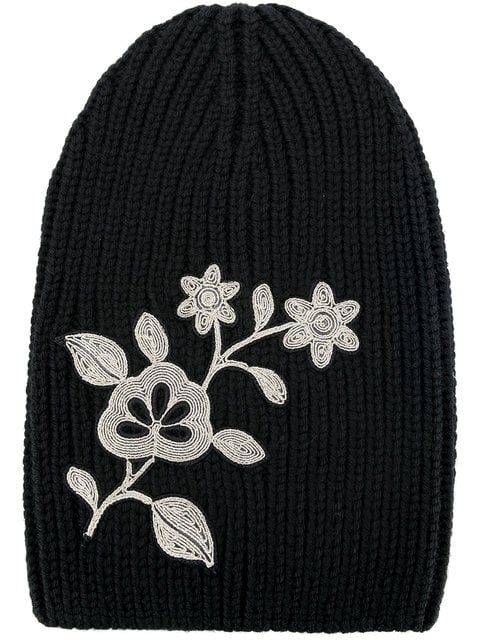 2d7d14697 Shop Dsquared2 embroidered flower beanie