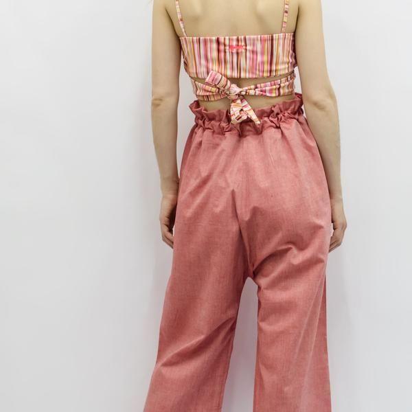 Wide Leg Trousers Hiraku in Cotton Linen Colors – Akira Mushi