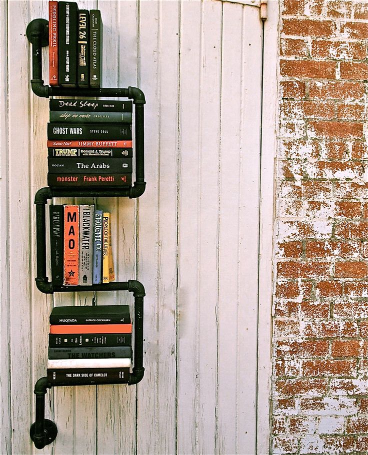 Industrial Pipe Bookshelf  2 Way - by possumbellydesign.com
