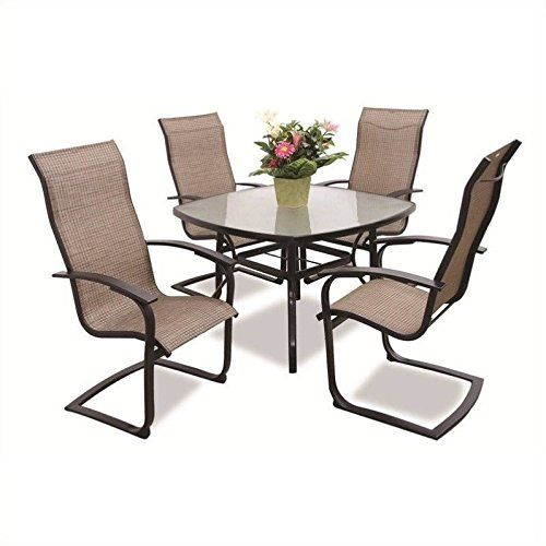cheap max furniture 5pc outdoor dining table set