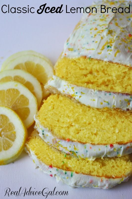 Delicious and moist classic iced lemon bread, perfect for summer