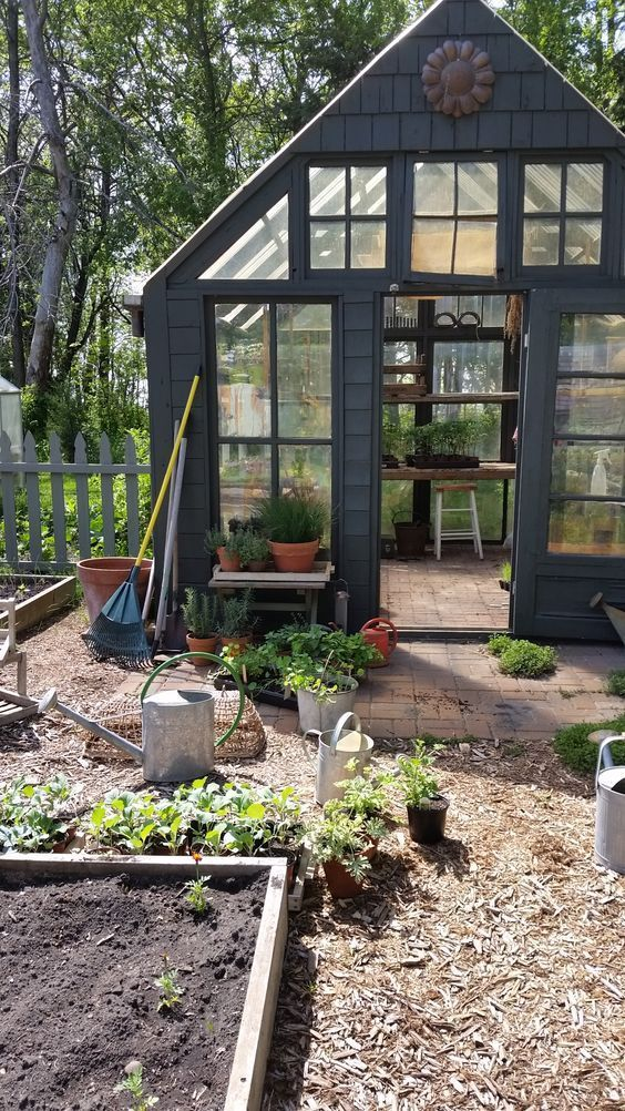 Potting Shed by downtoearthdigs: Perfectly imperfect. #Gardens #Potting_Shed