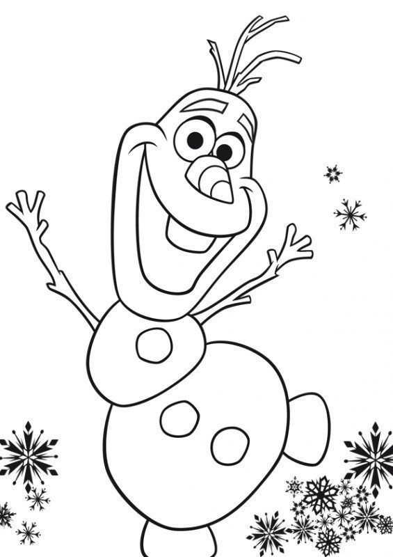 Frozen Para Colorear Olaf With Images Frozen Coloring Pages