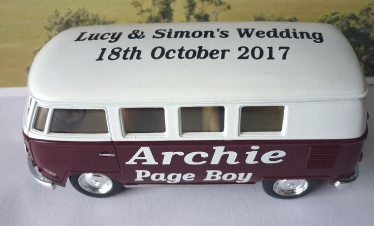 Name, Wedding Role, Bride and Groom Names and the Wedding date. Just let me know your choice of Name, Wedding Role, Bride & Groom Names and Wedding Date after buying either through. Burgundy & White VW Camper Bus. | eBay!